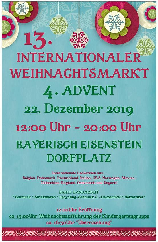 Plakat Internationaler Weihnachtsmarkt