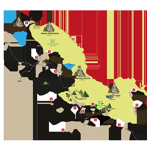 Nationalpark Bayerischer Wald Karte.Die Urlaubsorte In Der Ferienregion Nationalpark Bayerischer Wald